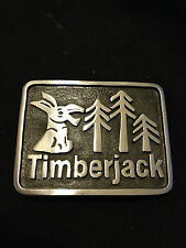Timberjack Belt Buckle Laughing Donkey Forest Skidder Logging