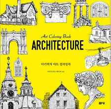 Architecture Art Coloring Book Anti Stress Art Therapy By Argo9 Studio For Adult