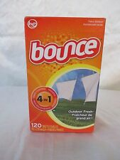 Bounce Fabric Softener 120 Sheets Outdoor Fresh 4 in 1 162 x 228 mm.