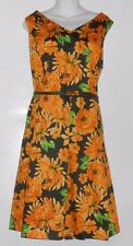 Jones New York Dress Woman V-Neck Semi Pleated Belted Floral Dress 20W NWT