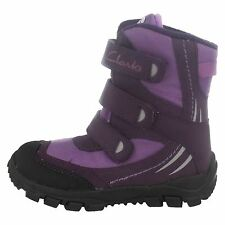 NEW Clarks Snow Day Purple Boots UK 7F infant