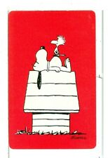 """Single Playing Cards Pin Up """"Peanuts, Snoopy"""" Hallmark 1607A Red"""