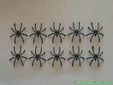 10x Cheap & Cheerful Plastic Spiders Good for Fantasy Wargaming SciFi RPG 2 Inch