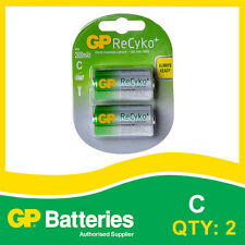 GP ReCyko+ NiMH C Battery card of 2 [RECHARGEABLE BATTERIES]