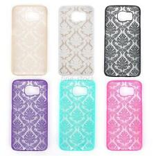 New Galaxy S6 & S6 Edge Damask Floral Design Hard Case Cover 6 Colours £2.49
