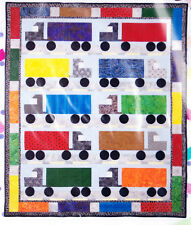I Love Semi Trucks - fun child's applique & pieced quilt PATTERN