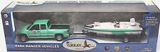 Gearbox 1/43 Diecast O Scale Park Ranger Chevrolet Pickup with Boat & Trailer