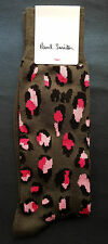 Paul Smith Mens Italian Socks Camouflage Leopard Pink K320 Cotton Mix One Size