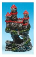 "Penn Plax Red Castle Fish Aquarium Ornament 4"" MINI - RRW5B"