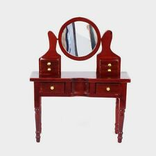 Dolls House Furniture: Mahogany Wooden Dressing Table in 12th scale