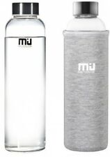 MIU 550ml Eco-friendly Glass Water Bottle BPA Free Portable Sports Bottle