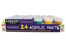 Sargent Art 24 Jar Color ACRYLIC PAINT Set Non-Toxic Acid Free 66-5524