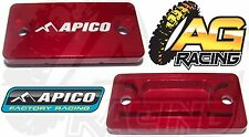 Apico Red Front Brake Master Cylinder Cover For Suzuki RM 250 04-08 Motocross