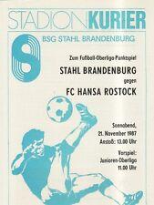 OL 87/88   BSG Stahl Brandenburg - FC Hansa Rostock