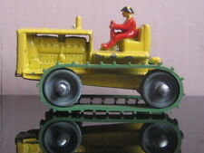 RARE Matchbox Lesney 8a Caterpillar Tractor yellow w RED DRIVER & MINT B1 BOX !