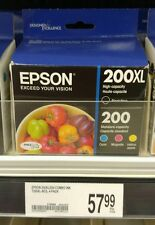 NEW Genuine Epson 200XL/200 Ink, Black XL, Magenta-Cyan-Yellow Ink Cartridges