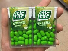 2 Packs of Tic Tac Green Apple Mints Candy