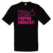 Hurra/ Scheisse mit WUNSCHNAME Junggesellenabschied T-Shirt JGA Hochzeit Party