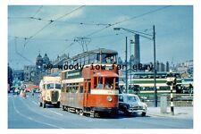 pt9230 - Leeds Tram no 514 to Crossgates in 1959 - photograph