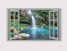 126 NEW X LARGE CANVAS 18''x 32'' WALL ART WATERFALL LAKE WINDOW print picture