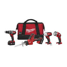 Milwaukee M18 18V Li-Ion 4-Tool Combo Kit 2695-24 NEW