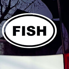 FISH Sticker Love Fishing Game Car Window Laptop Bumper Funny Vinyl Decal
