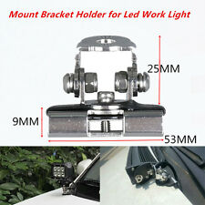 2X Pillar Hood Led Work Light bar Mount Bracket Clamp Holder for Offroad SUV