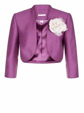 New Jacques Vert Bolero Jacket ~ Size 22 ~ Purple~ Rrp £129