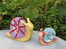 Miniature Dollhouse FAIRY GARDEN ~ GLOW in the DARK Snails ~ Set of 2