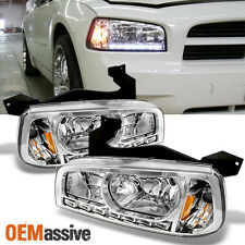 06-10 Dodge Charger LED Headlights w/Corner Signal Lamps Left+Right Replacement