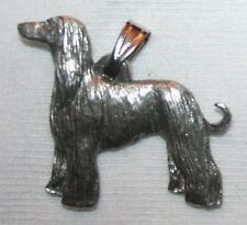 Afghan Hound Dog Harris Fine Pewter Pendant USA Made