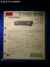 Sony Service Manual TC WA8ES / WR765S Cassette Deck (#1130)