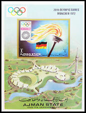 AJMAN Wholesale 1972 Munich Olympics Imperf M/Sheets x 100 NEW SALE PRICE AB 641