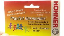 Hohner Playful Harmonies Two Tone Wood Block S2266 NIP