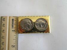 2 Nickels(Buffalo 1913-38) Of MONEY CLIP +1 Old Cent US Coin: BIG SALE 2 Items