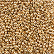 Miyuki Size 8 (3mm) Round Seed Beads Galvanized Gold sold in a 22g tube (J36/2)