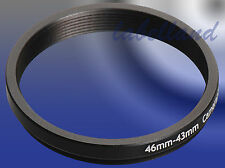 46mm-43mm 46-43 Filter Adaptor Ring Converts 46mm lens thread to 43mm Step-Down