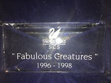 Swarovski SCS  FABULOUS CREATURES Display plaque  New in Box 1996 1997 1998