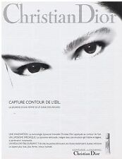 PUBLICITE ADVERTISING 054 1989 CHRISTIAN DIOR capture contour d'oeil