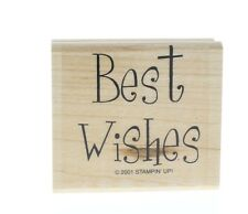 Stampin Up Best Wishes Sentiments Words Writing Wooden Rubber Stamp
