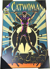 CATWOMAN Wood Wall Art 13x19 Sign Home Office Kitty Cave Fierce Sexy LG Hanging