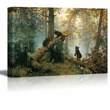 Morning in a Pine Forest  Painting by Ivan Shishkin Giclee Canvas Prints-32 x 48