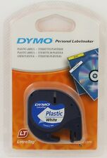 DYMO 12mm LETRATAG Tape label PLASTIC White 4m
