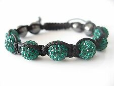 10MM Shamballa Seven Czech Disco Ball Swarovski Crystal Ball Bracelet Present 11
