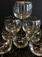Vintage ROLY POLY Glasses SILVER Set of 8 Dorothy Thorpe Style