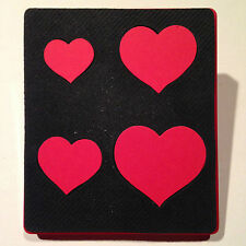 Sizzix Large Red Original Die Cutter ~ HEARTS ~ Geometric Cut Lots of Hearts