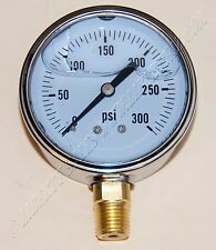 New Hydraulic Liquid Filled Pressure Gauge 0-300 PSI