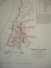 Carte de la Terre Sainte sous Salomon, divisé en 12 gouvernements