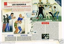Coupure de Presse Clipping 1995 (2 pages) Les Guignols