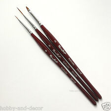 Roubloff KOLINSKY SABLE Nail Art Professional Miniature brushes Set DKR Russian